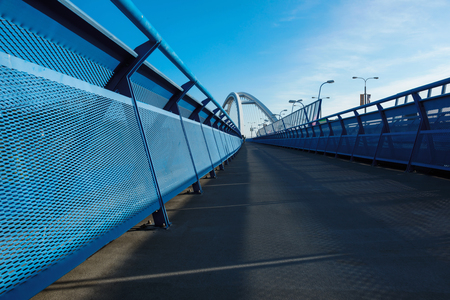 Walkway on apollo bridge in Bratislava