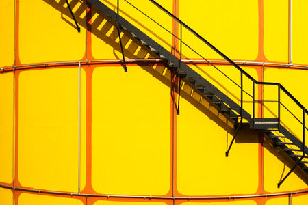 Industrial area in Wien with yellow cistern