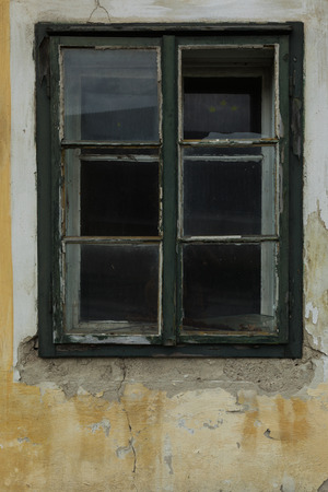 Closeup of windows in suburbs