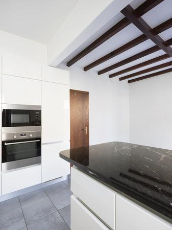 Details of white and black modern kitchen Standard-Bild