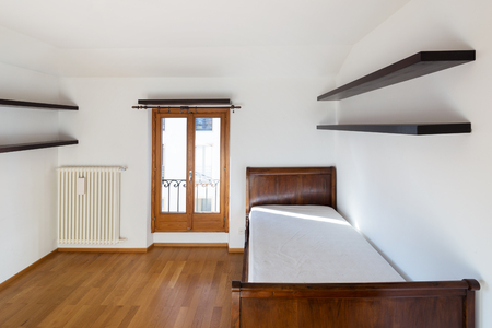 Empty new bedroom, only with bed
