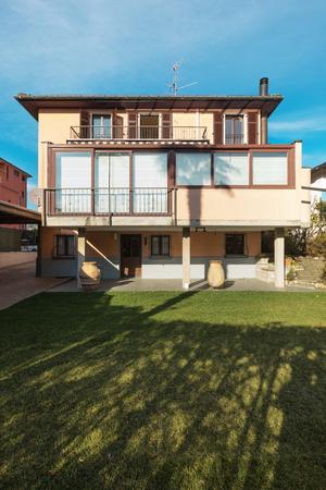 exterior of modern villa, nobody inside
