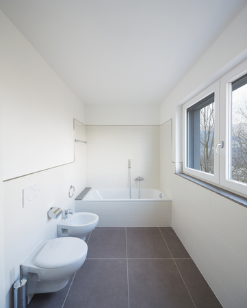 New bathroom just renovated, clean space Standard-Bild - 103191616