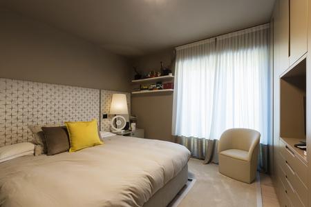 Elegant bedroom with wardrobe. Nobody inside Zdjęcie Seryjne