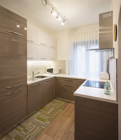 Kitchen in a renovated apartment, nobody inside Standard-Bild - 114299988