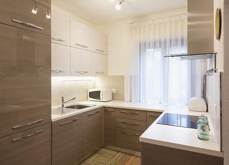 Kitchen in a renovated apartment, nobody inside Standard-Bild - 114299993