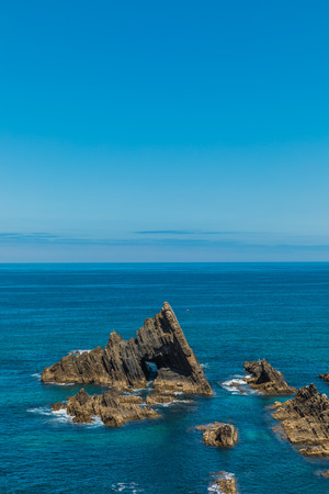 Portugal cliffs on the Atlantic ocean on a summer day. Landscape 写真素材