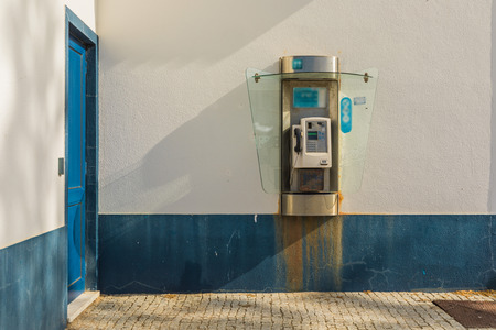 Public telephone in Portugal. Isolated