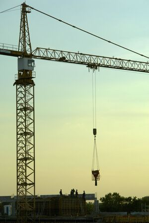 Residential construction site in Warsaw. After joining the EU Polish capital experienced a construction boom. Stock Photo - 675980
