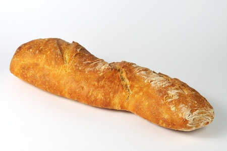 crusty: crusty isolated baguette on white background