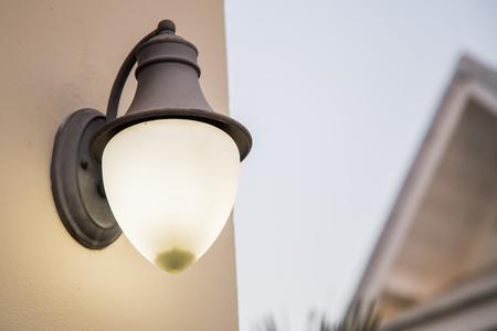 lamp shade: Wall lamp with yellow shade
