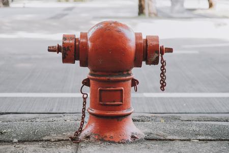 Fire hydrant on street