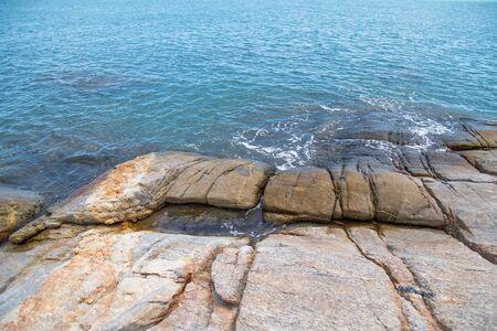 Beautiful stones in sea.