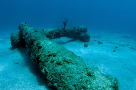 oceanography: Artificial Reef consisting of artificial cannons, picture taken in south east Florida.