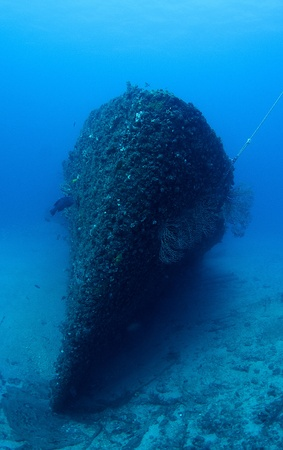 Old Coast Guard Cutter Sunk as an artificial reef in south east Florida. photo