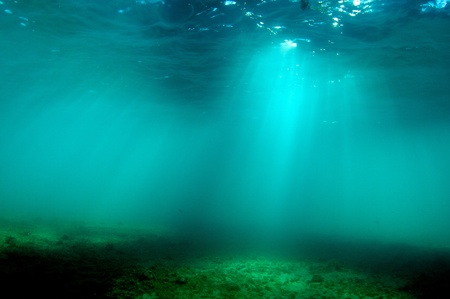 Light Beams Under Water
