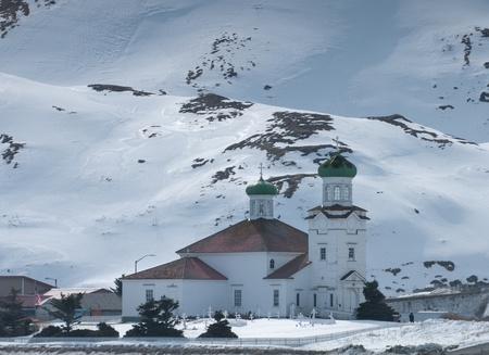 Picture of an orthodox church in Aleutian Islands
