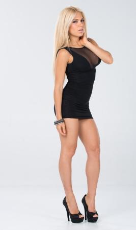 金髪髪モデル スタジオ撮影