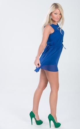 Beautiful Eastern European Model in studio shoot.