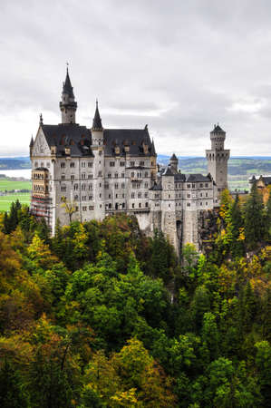 neuschwanstein: Neuschwanstein castle in Germany