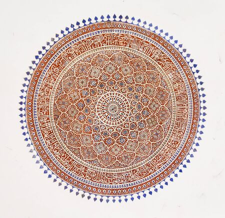 painting on the ceiling , indian art Stock Photo