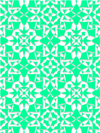 on white: Mint and white abstract background Illustration