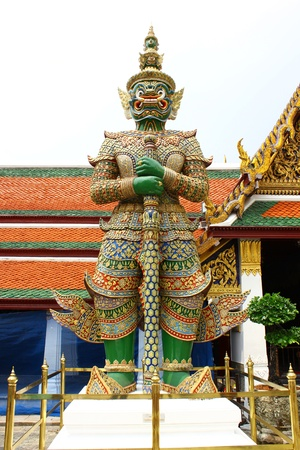 Bush carved deities in the temple at thailand   photo