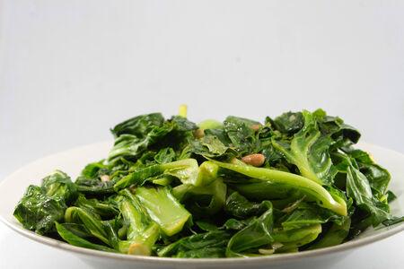 kale: Fried kale vegetable