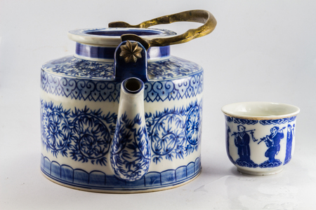 Vintage tea pot photo