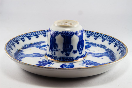 china plate with tea cup photo