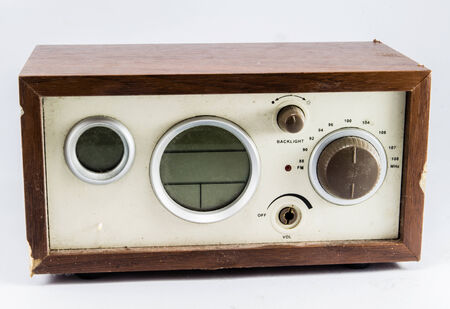 old brown vintage radio photo
