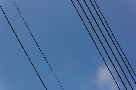 electricity post and blue sky in Thailand   photo