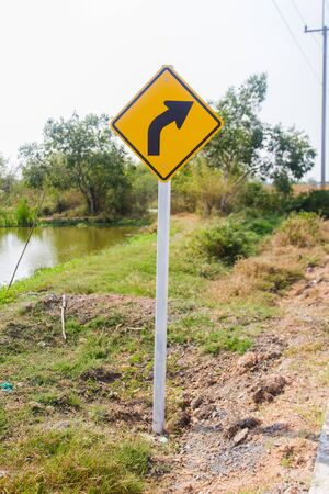 Traffic signs on the road by the way . from Thailand. photo