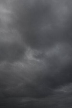 barren: dark sky and cloud after rain  background in Thailand .