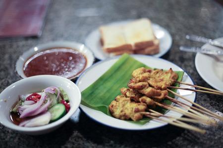 gill: Pork satay and sauce