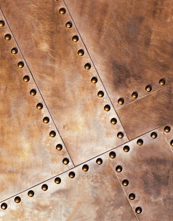 oxidized: Structure of old metal with rivets