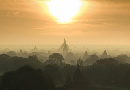 Bagan Pagan est une ancienne ville situ�e dans la r�gion de Mandalay Birmanie Myanmar Banque d'images