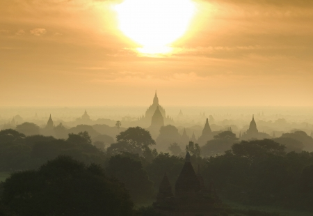 Bagan  Pagan  is an ancient city located in the Mandalay Region of Burma  Myanmar  photo