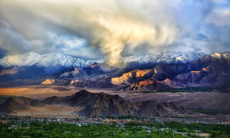 """ladakh: """"Leh Cloud"""" Leh, Ladakh, Jammu and Kashmir, India   Leh was the capital of the Himalayan kingdom of Ladakh, now the Leh District in the state of Jammu and Kashmir, India"""