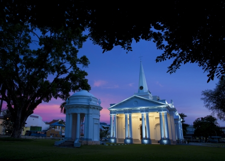 �glise de Saint-Georges sur Lebuh Farquhar � George Town, Penang, en Malaisie, est la plus ancienne �glise anglicane en Asie du Sud-Est Banque d'images