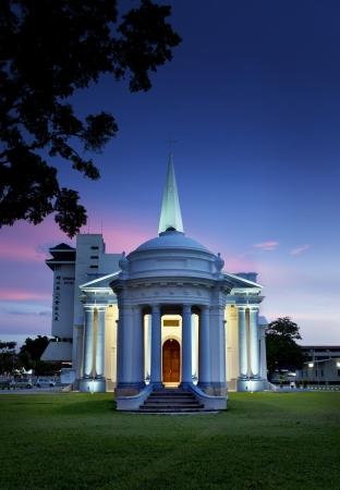 Eglise St George s, Penang, Malaisie Banque d'images