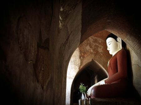 Buddha, Bagan, Burma  Myanmar  Stock Photo