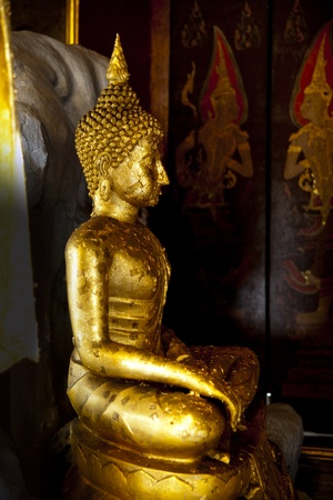 Seated Buddha image photo