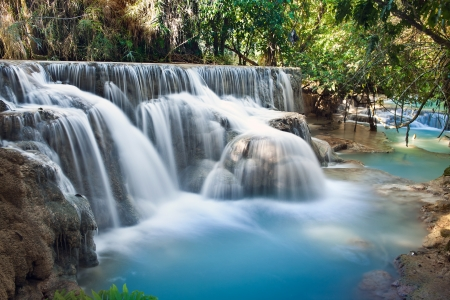 Tad Sae Waterfalls, Luang Prabang Province, Laos photo