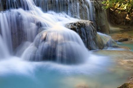 d�bits d'eau - cascade, Laos Banque d'images