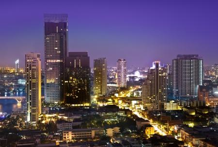 rise to the top: Modern Urban City Skyline, Bangkok, Thailand Stock Photo