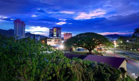 Urban Night City Skyline, Langkawi, Malaisie