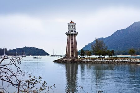 langkawi island: Lighthouse by the ocean, Langkawi, Malaysia
