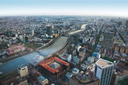 Urban City Skyline, H�-Chi-Minh-Ville, Vietnam Banque d'images