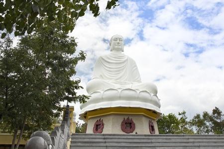 Large Buddha(Long Son Pagoda), landmark on Nha Trang, Vietnam Stock Photo